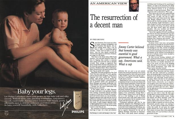 Article Preview: The resurrection of a decent man, December 1990 | Maclean's