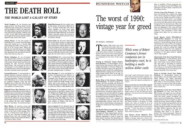 Article Preview: The worst of 1990: vintage year for greed, December 1990 | Maclean's