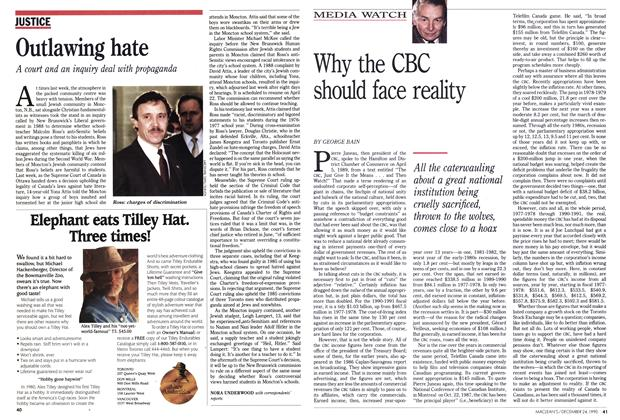 Article Preview: Why the CBC should face reality, December 1990 | Maclean's