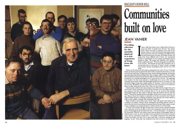 Article Preview: Communities built on love, December 1990 | Maclean's