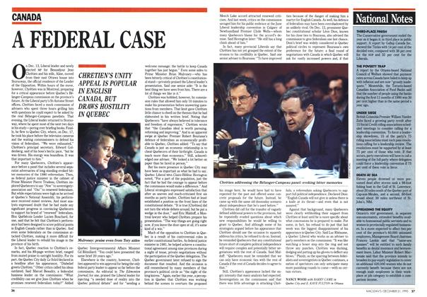 Article Preview: A FEDERAL CASE, December 1990 | Maclean's