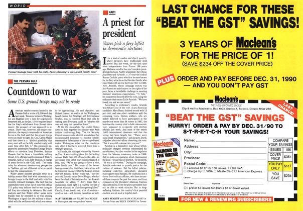 Article Preview: A priest for president, December 1990 | Maclean's