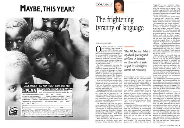 Article Preview: The frightening tyranny of language, December 1990 | Maclean's