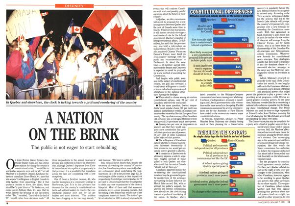 Article Preview: A NATION ON THE BRINK, January 1991 | Maclean's