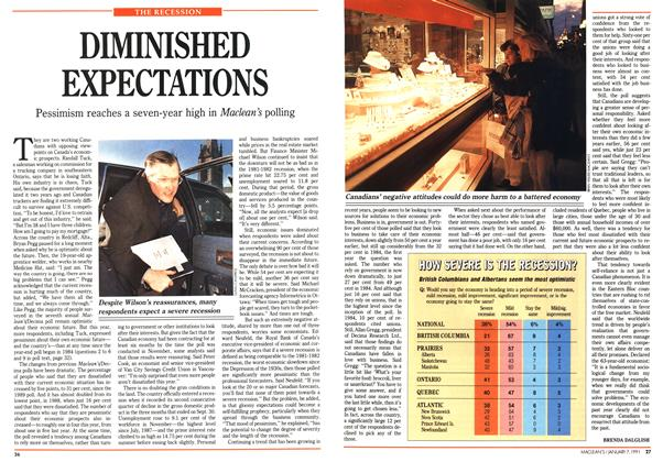 Article Preview: DIMINISHED EXPECTATIONS, January 1991 | Maclean's