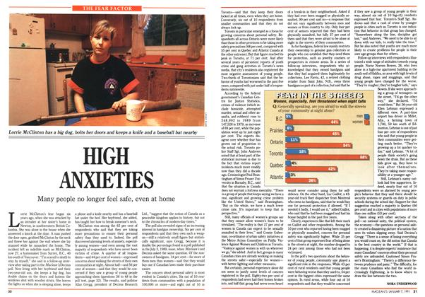 Article Preview: HIGH ANXIETIES, January 1991 | Maclean's