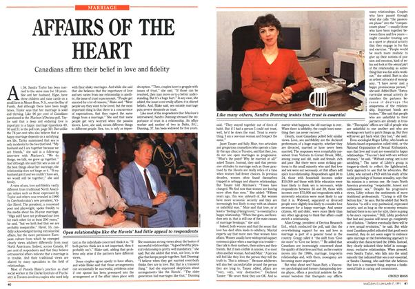 Article Preview: AFFAIRS OF THE HEART, January 1991 | Maclean's