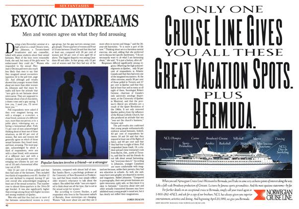 Article Preview: EXOTIC DAYDREAMS, January 1991 | Maclean's