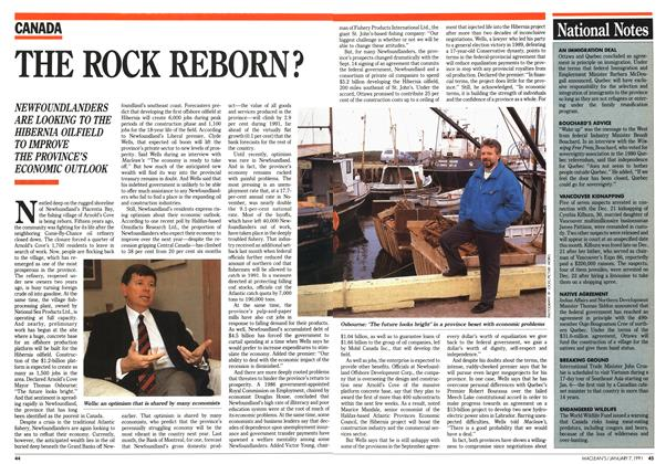 Article Preview: THE ROCK REBORN?, January 1991 | Maclean's