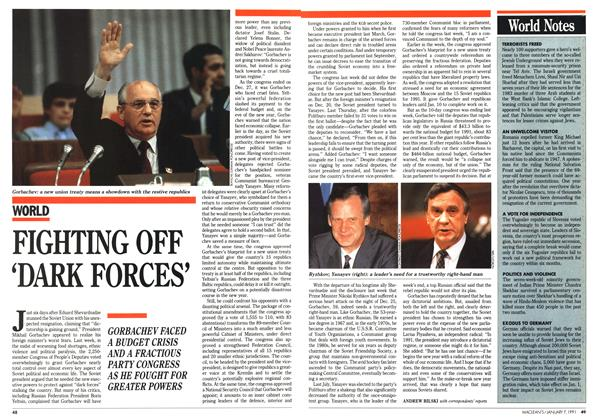 Article Preview: FIGHTING OFF 'DARK FORCES', January 1991 | Maclean's