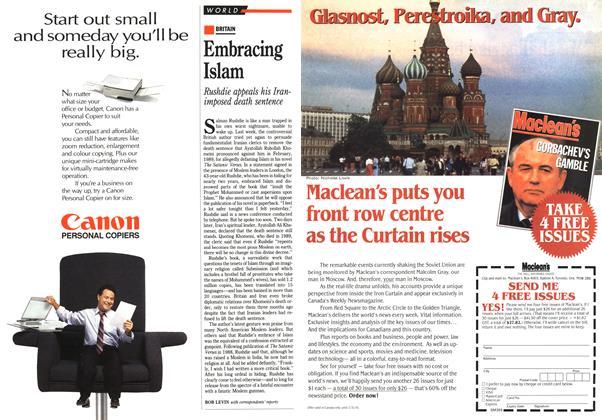 Article Preview: Embracing Islam, January 1991 | Maclean's