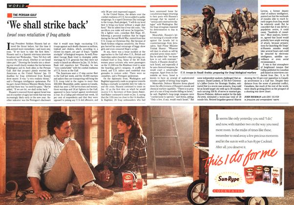 Article Preview: 'We shall strike back', January 1991 | Maclean's