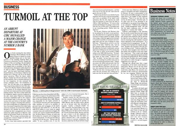 Article Preview: TURMOIL AT THE TOP, January 1991 | Maclean's