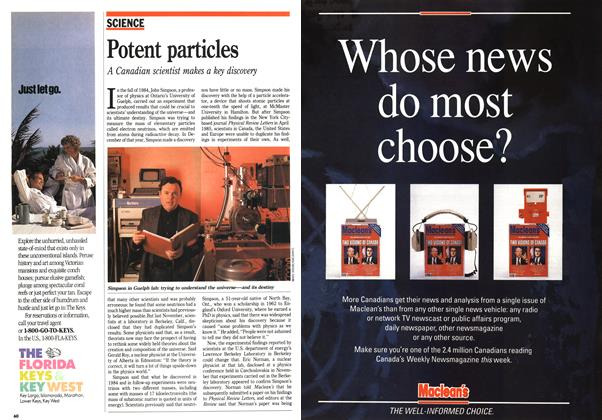 Article Preview: Potent particles, January 1991 | Maclean's