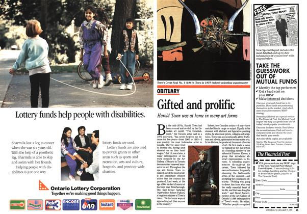 Article Preview: Gifted and prolific, January 1991 | Maclean's