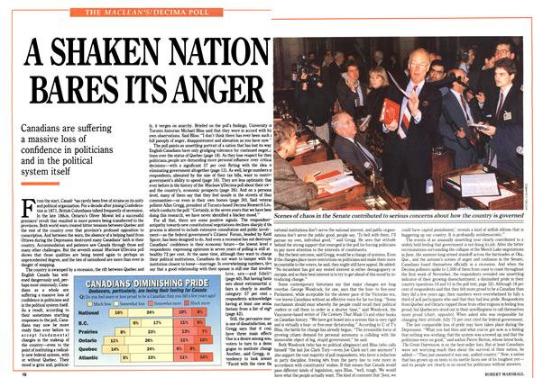 Article Preview: A SHAKEN NATION BARES ITS ANGER, January 1991 | Maclean's