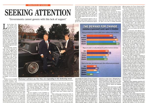 Article Preview: SEEKING ATTENTION, January 1991 | Maclean's