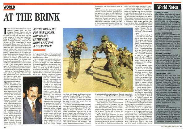 Article Preview: AT THE BRINK, January 1991 | Maclean's