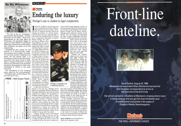 Article Preview: Enduring the luxury, January 1991 | Maclean's