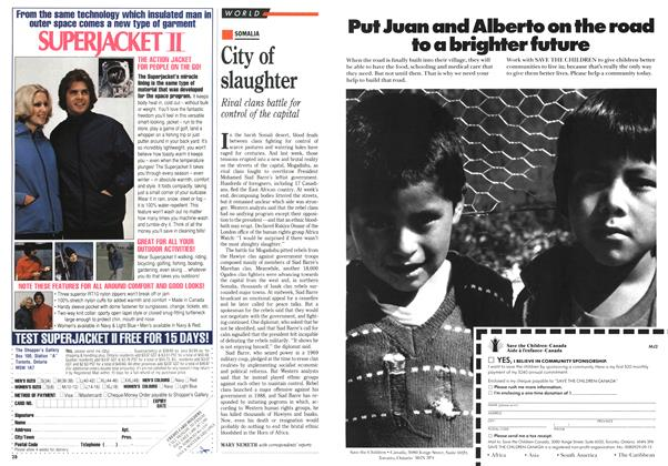 Article Preview: City of slaughter, January 1991 | Maclean's