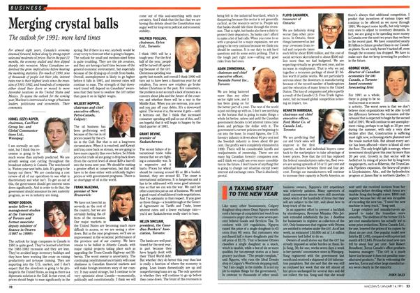Article Preview: Merging crystal balls, January 1991 | Maclean's
