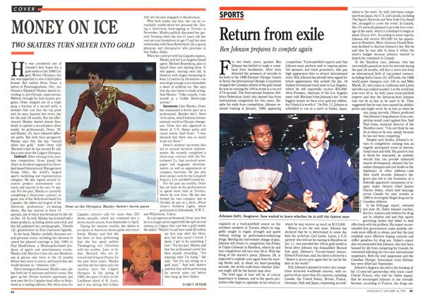 Article Preview: MONEY ON ICE, January 1991 | Maclean's