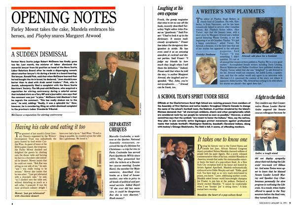 Article Preview: OPENING NOTES, January 1991 | Maclean's