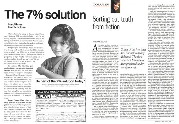 Article Preview: Sorting out truth from fiction, January 1991 | Maclean's