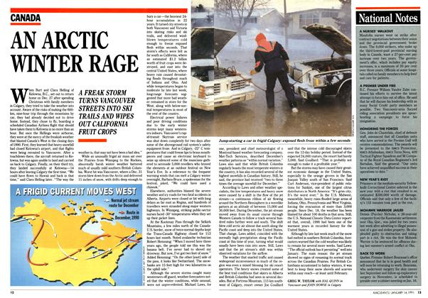 Article Preview: AN ARCTIC WINTER RAGE, January 1991 | Maclean's