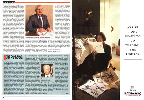 Article Preview: THE TIGHT RACE FOR THE TOP JOB, January 1991   Maclean's
