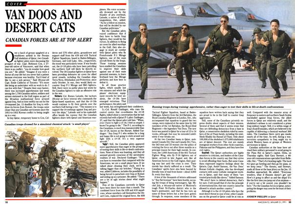 Article Preview: VAN DOOS AND DESERT CATS, January 1991 | Maclean's