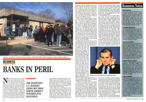 Article Preview: BANKS IN PERIL, January 1991 | Maclean's