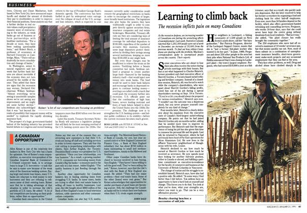 Article Preview: Learning to climb back, January 1991 | Maclean's