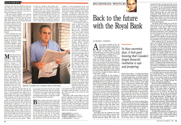 Article Preview: Back to the future with the Royal Bank, January 1991 | Maclean's