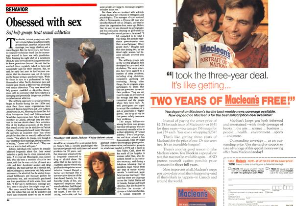 Article Preview: Obsessed with sex, January 1991 | Maclean's