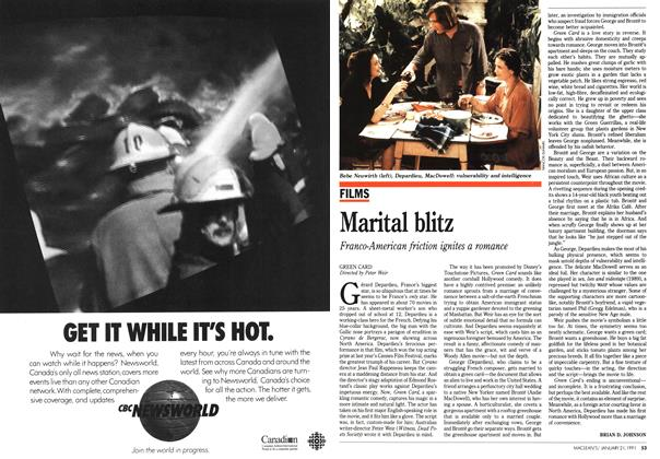 Article Preview: Marital blitz, January 1991 | Maclean's