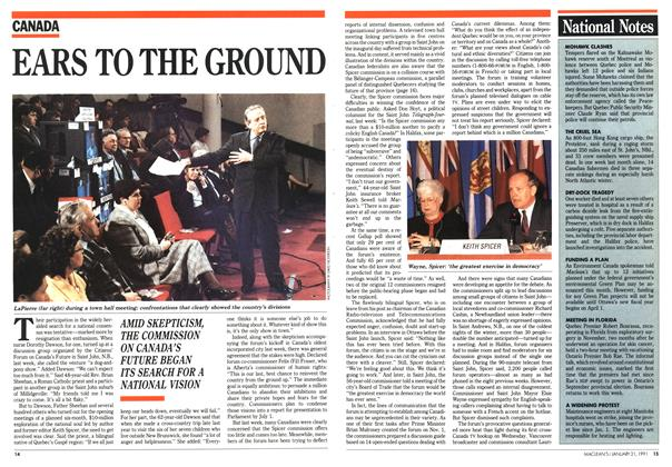 Article Preview: EARS TO THE GROUND, January 1991 | Maclean's