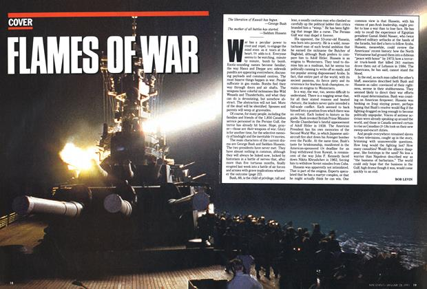 Article Preview: FLAMES OF WAR, January 1991 | Maclean's