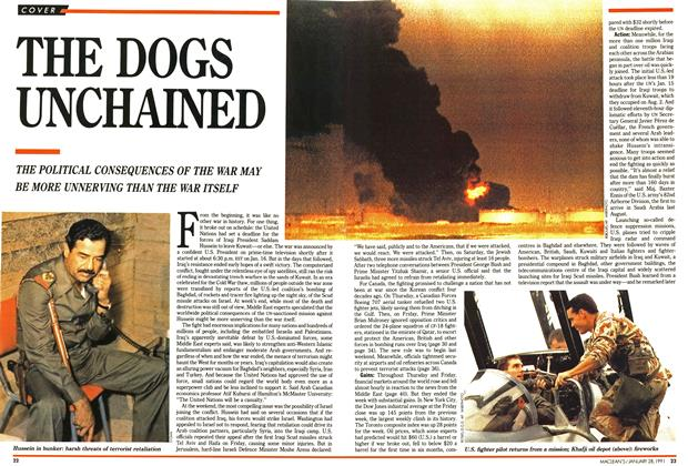 Article Preview: THE DOGS UNCHAINED, January 1991 | Maclean's