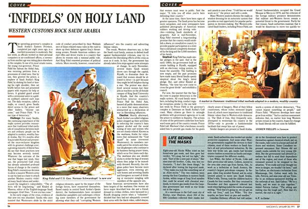 Article Preview: 'INFIDELS' ON HOLY LAND, January 1991 | Maclean's