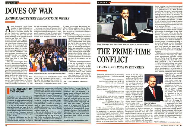 Article Preview: DOVES OF WAR, January 1991 | Maclean's