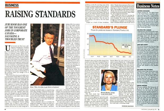 Article Preview: RAISING STANDARDS, January 1991 | Maclean's