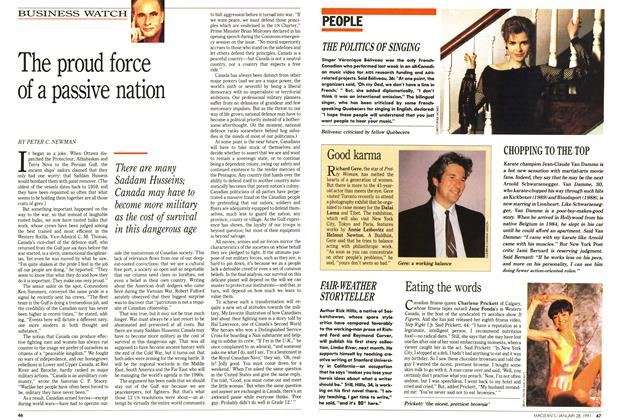 Article Preview: The proud force of a passive nation, January 1991 | Maclean's