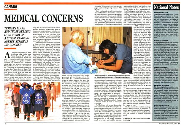 Article Preview: MEDICAL CONCERNS, January 1991 | Maclean's