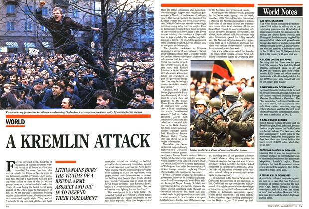 Article Preview: A KREMLIN ATTACK, January 1991 | Maclean's