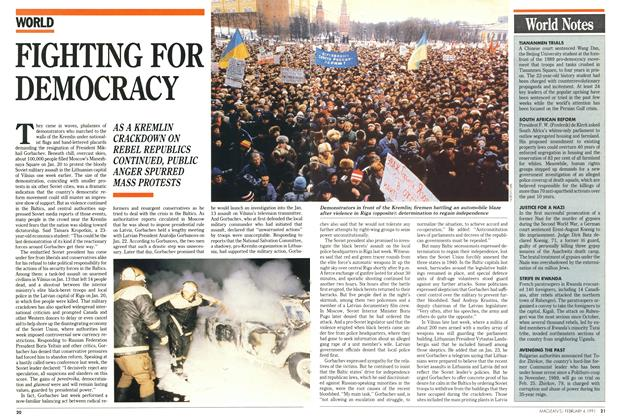Article Preview: FIGHTING FOR DEMOCRACY, February 1991 | Maclean's