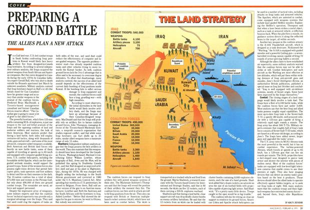 Article Preview: PREPARING A GROUND BATTLE, February 1991 | Maclean's