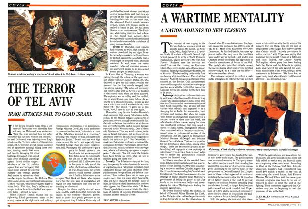 Article Preview: A WARTIME MENTALITY, February 1991 | Maclean's