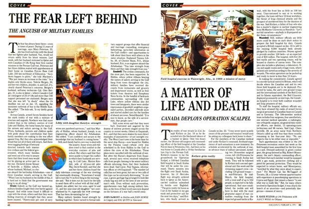 Article Preview: A MATTER OF LIFE AND DEATH, February 1991 | Maclean's