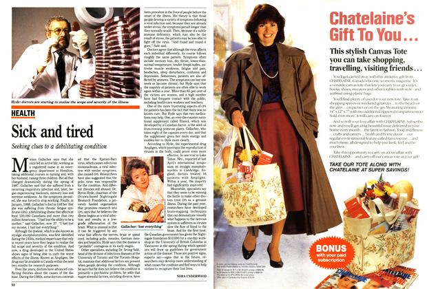 Article Preview: Sick and tired, February 1991   Maclean's